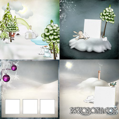 Set of 4 Winter Scrap-framework