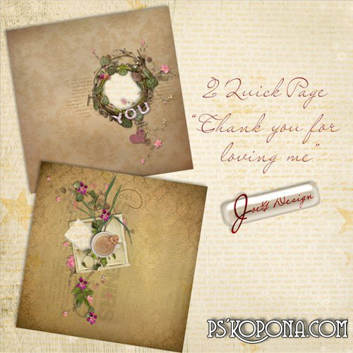 2 Scrap-pages - Delicate Romance