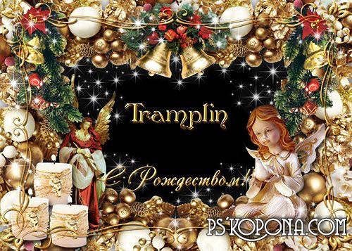 Рамка для Ваших фото – «Золотое Рождество!»