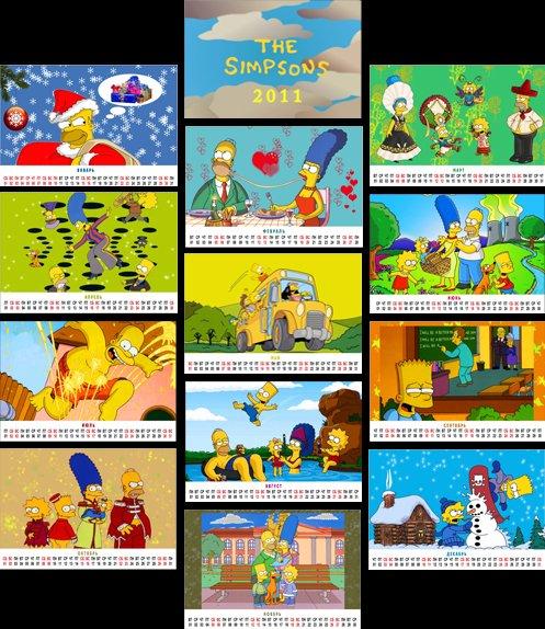 Календарь Simpsons - 2011