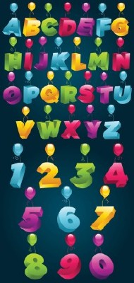 Letters and Numbers  Vector
