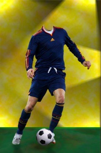 фотошаблон для мужчин - Футболист