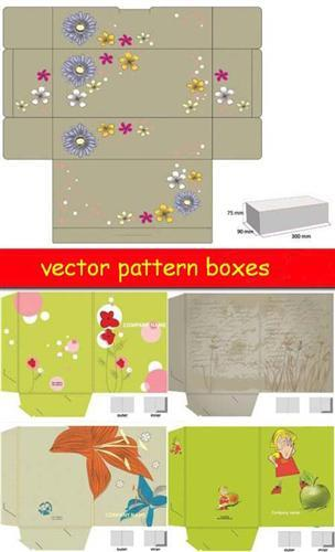 Vector pattern boxes