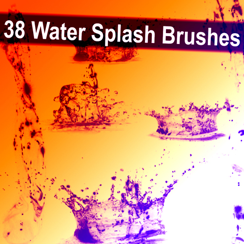 38 ABR brushes - Splash of water free download