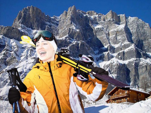 Шаблон для фотошопа - Отпуск в горах
