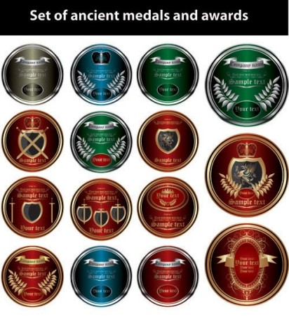 Vector - Ancient medals and awards
