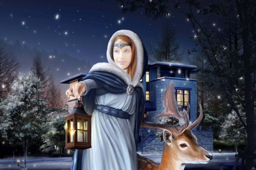 Шаблон для фотошопа - Зимняя сказка