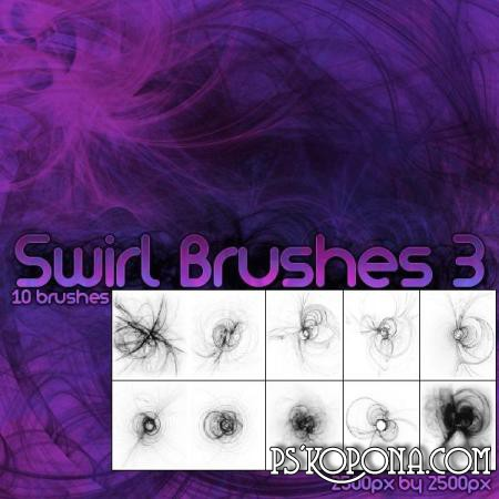 Brushes for Photoshop - Swirls ABR free download