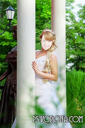 Шаблон для фотошопа – Невеста 1