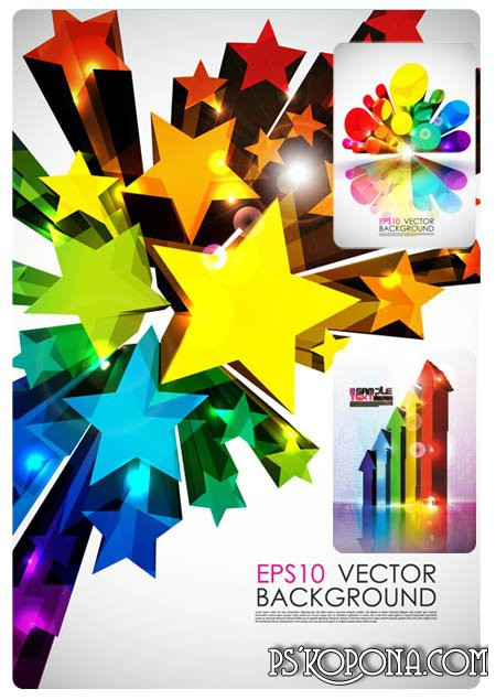 Stock vector - 3 Dimensional Colorful Fashion Background