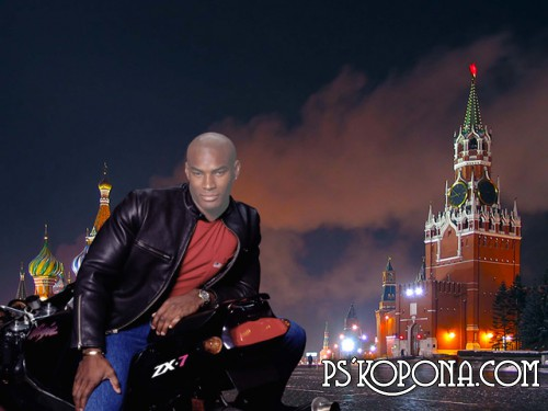 Template for photoshop - Moscow , on red square