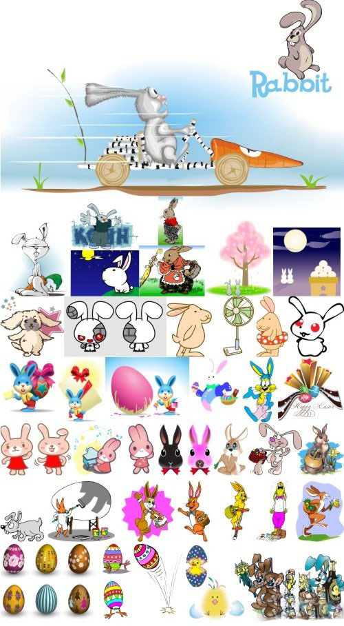 Vector clipart - Easter bunny