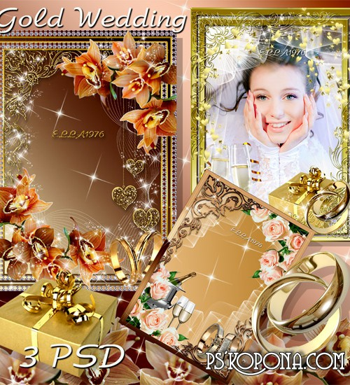 Wedding photo frame - Golden Wedding