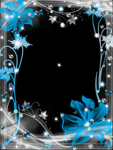 flower Frame png for photo - flower Fairy night free flower Frame psd