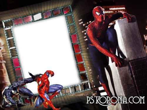 Frame for photo - A favourite hero of boys of persons is a Spider-Man