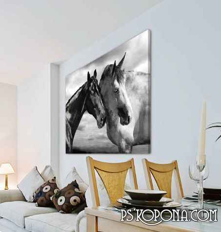 Photo-posters in the interior design