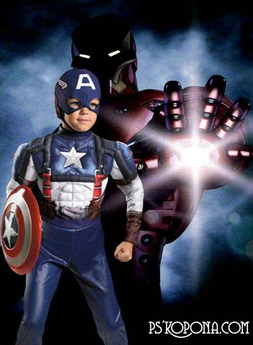 Kids psd templates  - The Avengers
