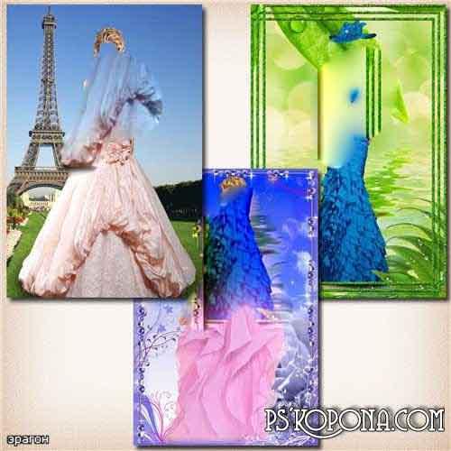 Female templates for Photoshop - Beautiful dresses