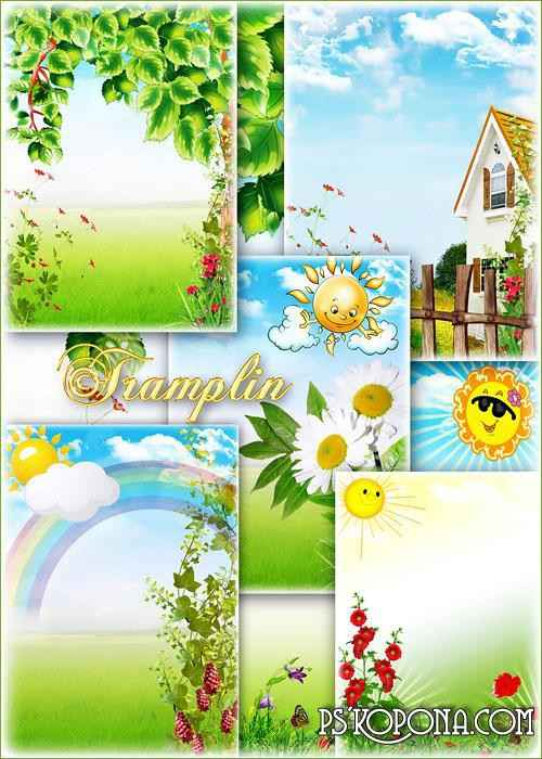 Beautiful summer backgrounds - Everything began to be green