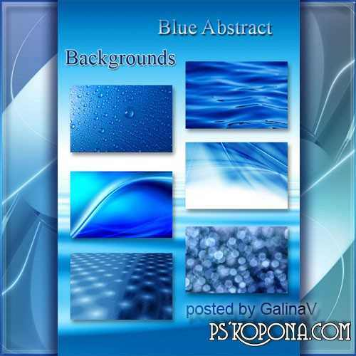 Blue Backgrounds with Abstract Design