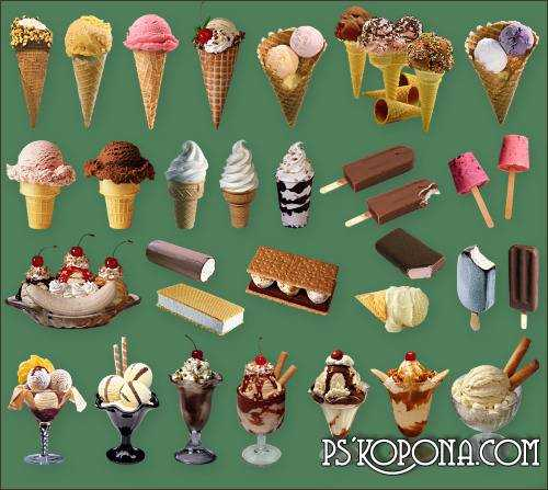 Clipart for Photoshop - Ice cream