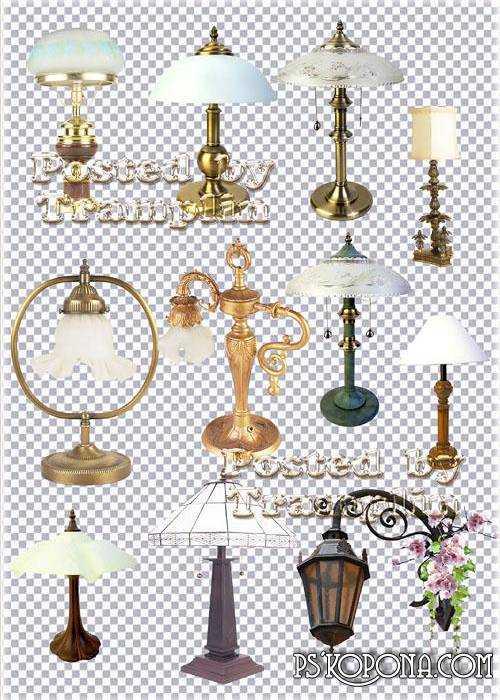 Clipart - Beautiful lamps, lamps, sconces