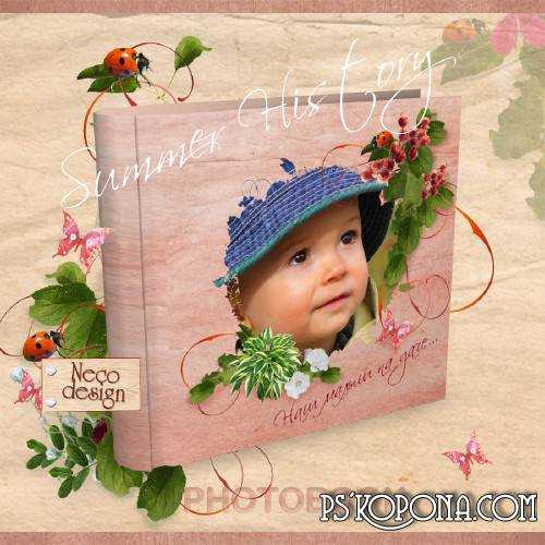 Template summer photobook template psd - Summer History