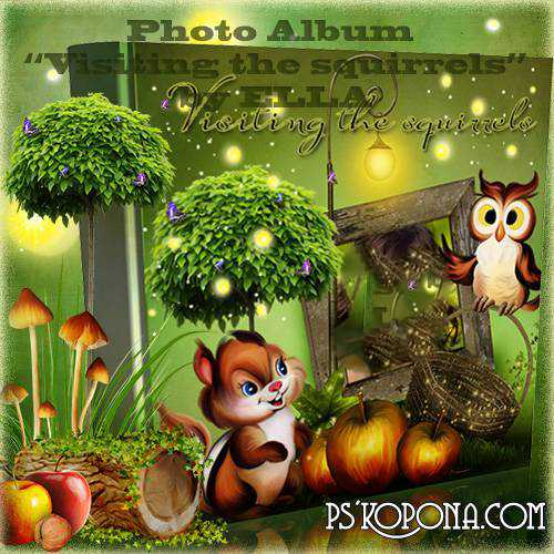 Fabulously beautiful children's photoalbum - Visiting the squirrels