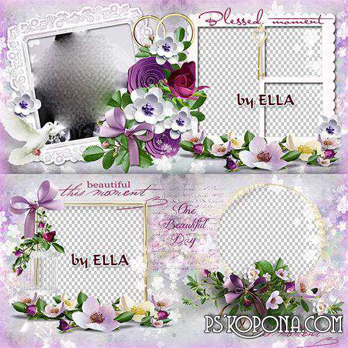 Gorgeous wedding photo book template- Our wedding story