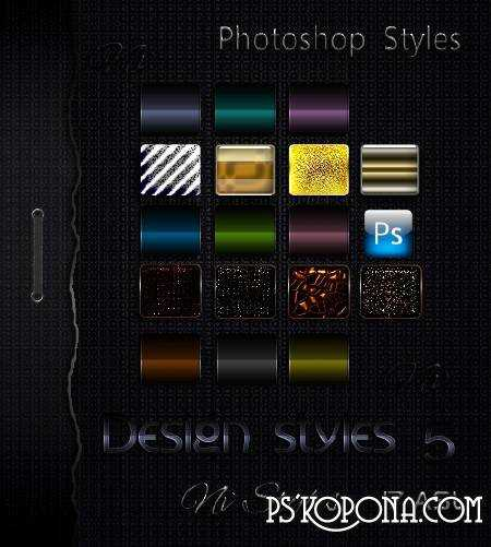 Free download Dark Styles for Photoshop 5 - Color Design