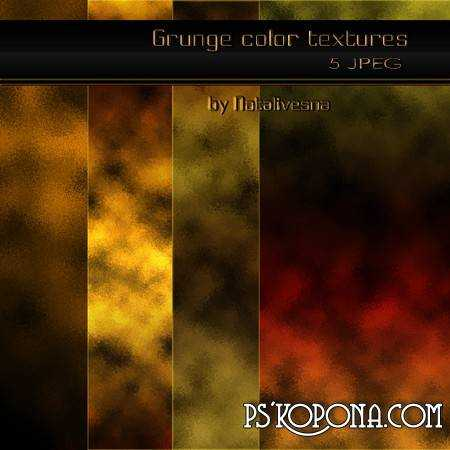 Grunge color textures for Photoshop