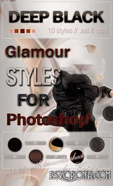 Free Glamour Styles for Photoshop - Deep Black