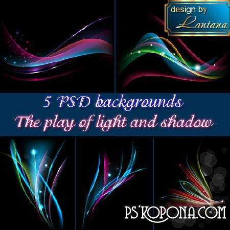PSD backgrounds - The play of light and shadow ( free abstract background psd download )