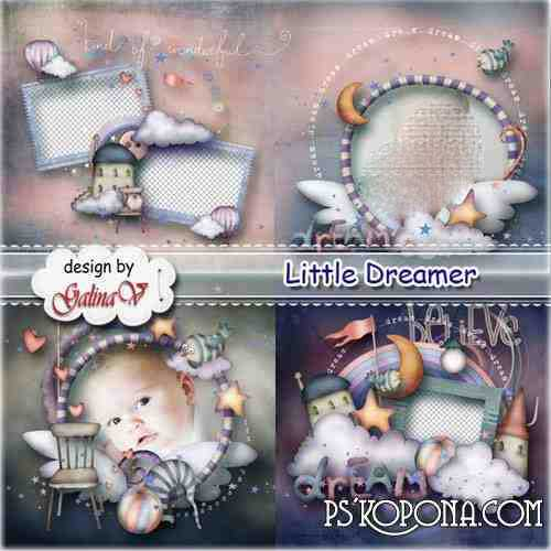 Photobook template psd for Baby Boy - Little Dreamer