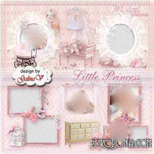 Photobook template psd for Baby Girl - Little Princess