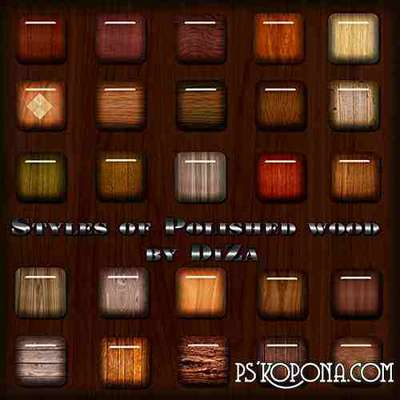 Photoshop Styles of Polished wood
