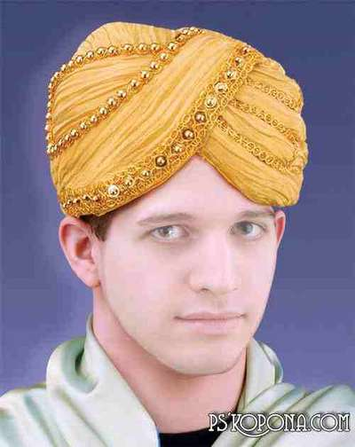 Male pattern for Photoshop - Hat Turban