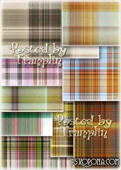 Beautiful backgrounds with different textures checkered fabric