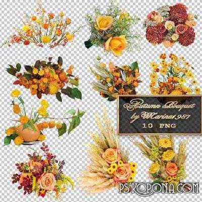 PNG graphics on a transparent background - Autumn Bouquet