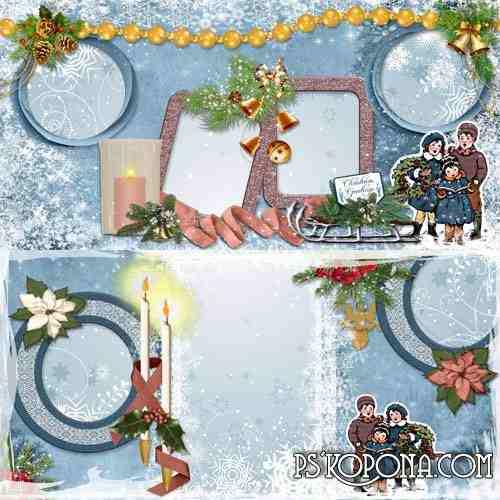 Christmas Photobook template psd - Family Holiday