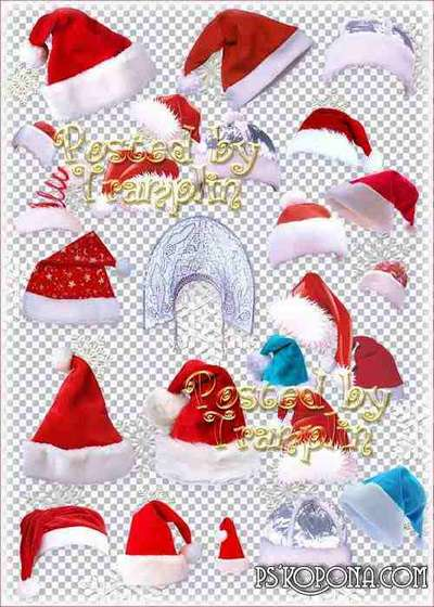 Klipart – New Years  santa hat, kokoshnik