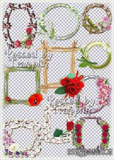Beautiful flower frame-cuts for of vignettes