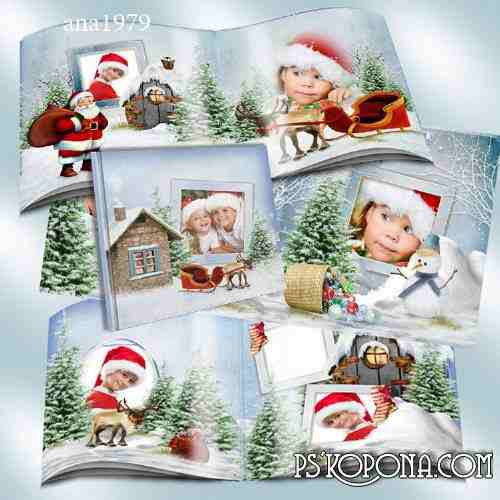 Photobook template psd - Winter Break