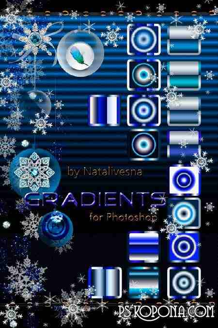 Blue shades - Gradients for Photoshop