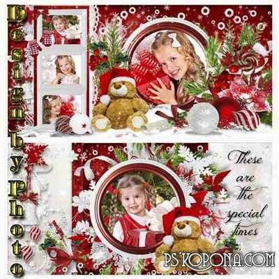 Beautiful Christmas photo book template psd - The Magic of Christmas