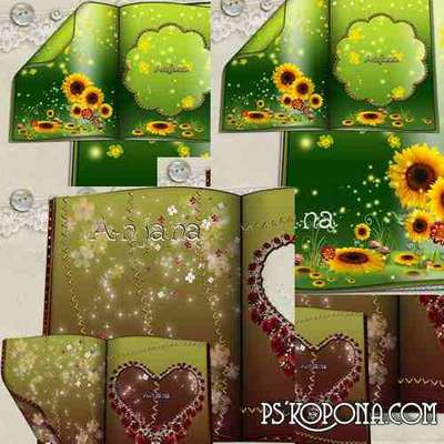 Frame - Rose Book & Sunflower Book