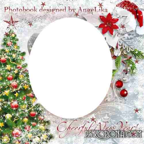 Festive Photobook template psd - Cheerful Christmas and New Year