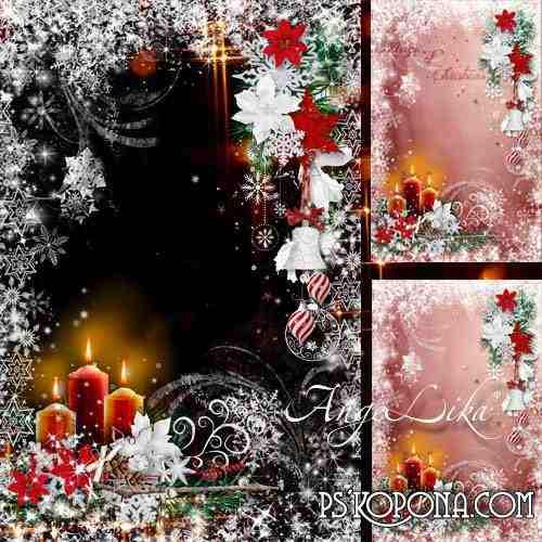 Winter Photoframe - Christmas Сandles