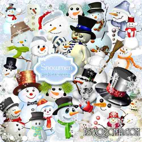 Clipart in PNG - Snowmen