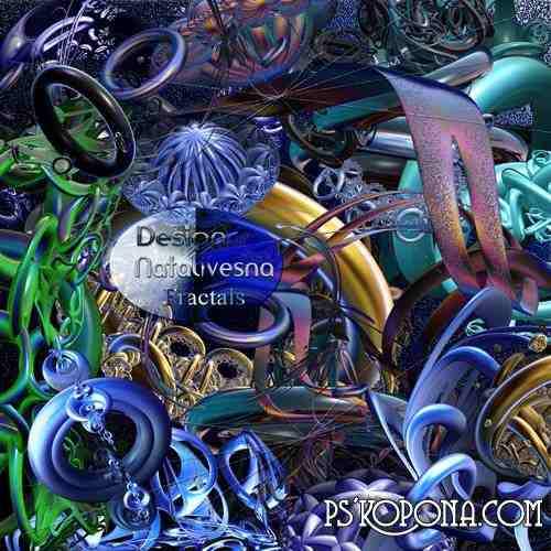 3D  Fractals  blue